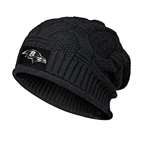 Trendy Winter Warm Beanie Hat for Men's Women Black Chunky Soft Knit Beanie Classic Cable Knit Cap