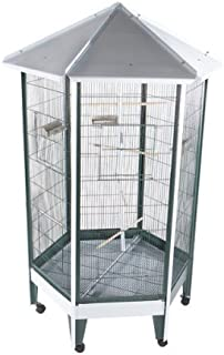 Large Hexagonal Bird Aviary