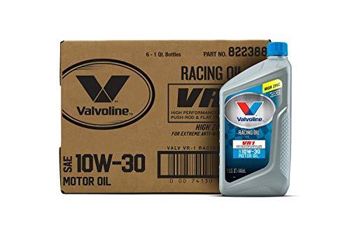 Valvoline VR1 Racing SAE 10W-30 Motor Oil 1 QT, Case of 6
