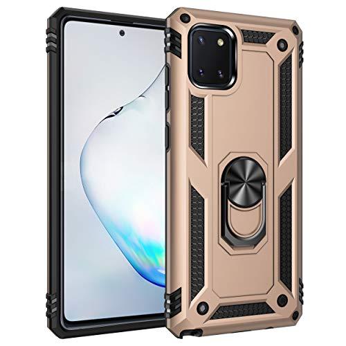 Compatible con Samsung Galaxy A81/Note10 Lite, funda protectora giratoria 360°, compatible con soporte magnético, resistente a los golpes