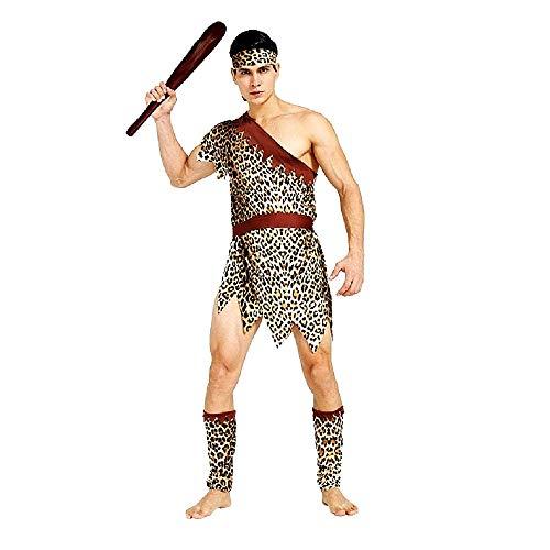 Pri02 - primitief holbewoner kostuum - primaten - holbewoners - vuurstenen - vermomming - carnaval - halloween - accessoires - one size - volwassenen - kerstverjaardagsgeschenkidee cosplay