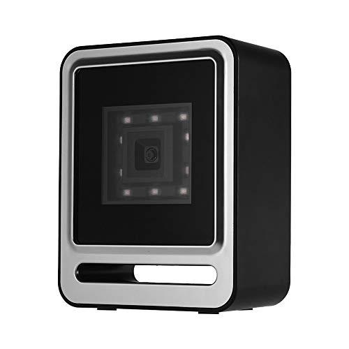 Ajcoflt Freisprecheinrichtung USB Kabelgebunden 1D 2D QR Barcoder-Scanner Desktop-Barcode-Lesegerät mit omnidirektionaler Lesefunktion und Unterstützung der oberen Auslösetaste Scan/Auto Sense-Modus