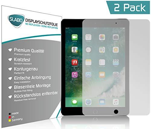 Slabo 2 x Displayschutzfolie für iPad 9.7 (2017)/iPad 9.7 (2018) Displayschutz Schutzfolie Folie No Reflexion|Keine Reflektion MATT - Entspiegelnd Made IN Germany