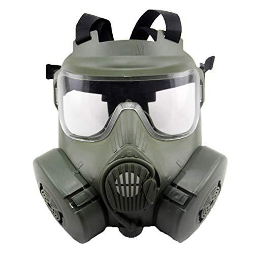 WAZX Schutzmaske M50 Gasmaske Cs Feldschlacht Armee Fan Reitmaske Film Krieg Überleben Spiel Requisiten Green