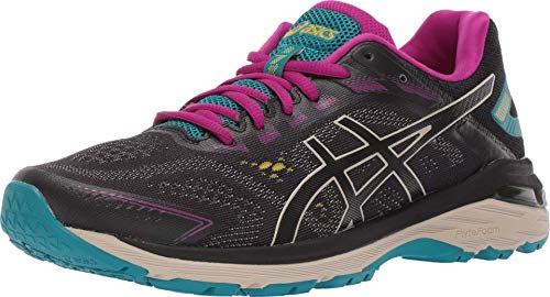 ASICS Women's GT-2000 7 Trail Running Shoes, 8.5M, Black/Feather Grey