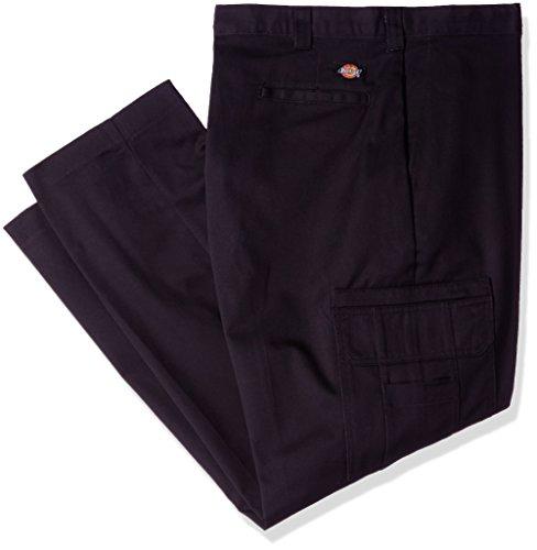 Dickies Occupational Workwear LP337BK Pantalón relajado de carga industrial para hombres, algodón, con pierna recta, Negro, 40 pulgadas  Waist Size, 30 pulgadas  Inseam