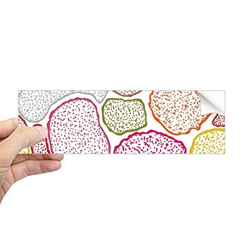 DIYthinker Kleurrijke Microscoop Cellen Structuur Biologische Rechthoek Bumper Sticker Notebook Window Decal