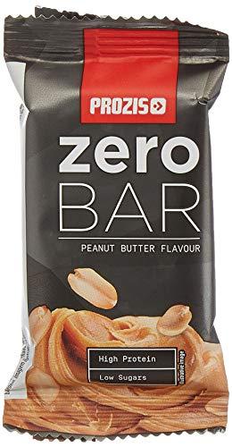 Prozis Zero Bar, Barrita con bajo contenido en azúcares, Crema de cacahuete - 12 x 40 g