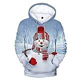 Auiyut Damen Kapuzenpullover Langarm Bluse 3D Gedruckt Freizeit Sweatshirt Weihnachten Hoodie...