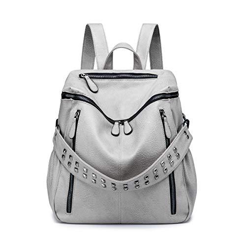 Tisdaini Bolsos mochila mujer moda casual marca colegio viaje escolares Bolsos bandolera ES917 Gris