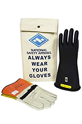 National Safety Apparel KITGC210 Class 2 Rubber Insulating Voltage Glove Kit
