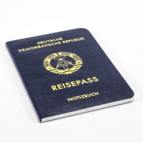 DDR-Nostalgie Notizbuch 'Reisepass DDR' A6 | Ost-Produkte Geschenk | Berlin Souvenir