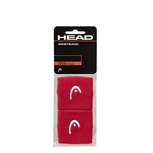 """HEAD Polsino da 2.5"""", Accessori Tennis Unisex Adulto, Rosso, taglia unica"""