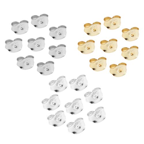 lahomia 24pc 925 Sterling Silver Earring Back Clasp Earplugs