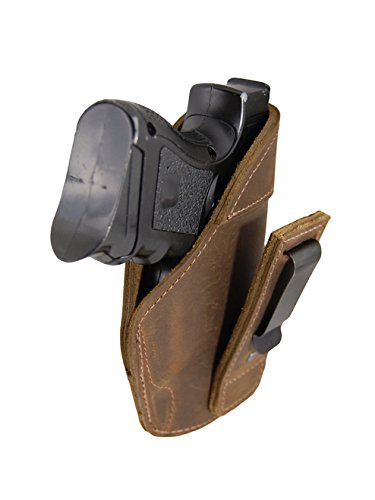 Barsony New Brown Leather Tuckable IWB Holster for Sig P320 Sub-Compact Right