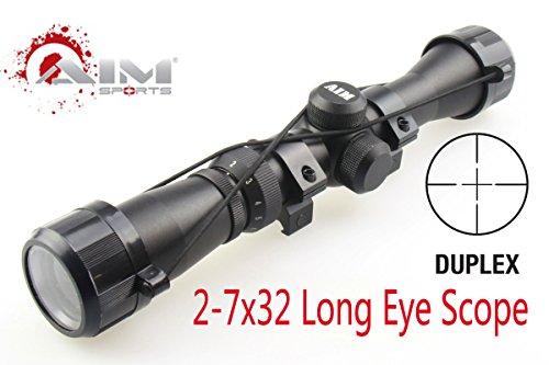 TACFUN AIM Sports Mosin Nagant 2-7x32 Long Eye Relief Scope Fits Mosin Nagant 1891/30 M39