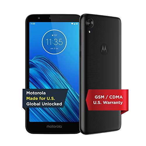 commercial Moto E6 | Unlock | Motorola Manufactured for USA | 2/16 GB | 13MP Camera | Blue motorola smartphones att
