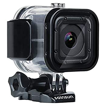 SOINSUN 60m Waterproof Dive Housing Case with Bracket Accessories for GoPro Hero 5 Session Hero 4 Session Hero Session Cameras