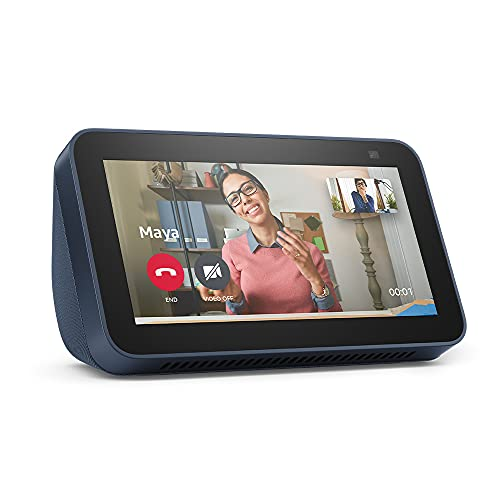 All-new Echo Show 5 (2nd Gen, 2021 release) | Smart display with Alexa and 2 MP camera | Deep Sea Blue