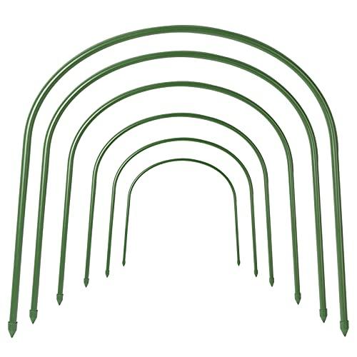 F.O.T Gewächshaus-Hoops, 6Pcs rostfrei Wachsen Tunnel Stahl mit Kunststoff Beschichtet Unterstützung Hoops Rahmen für Garten Stoff, Pflanze Unterstützung Garten Stakes (19.7