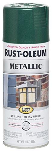 Rust-Oleum 7252830 Stops Rust Metallic Spray Paint, 11 oz, Racing Green, 11 Ounce