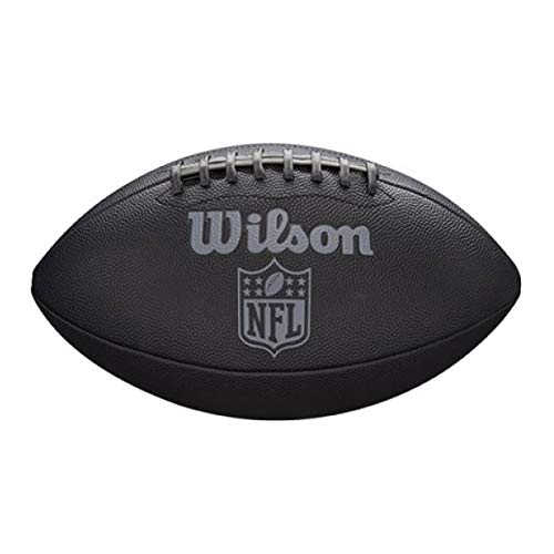 Wilson Unisex-Youth NFL Jet Black JR SZ FB American Football, Uni