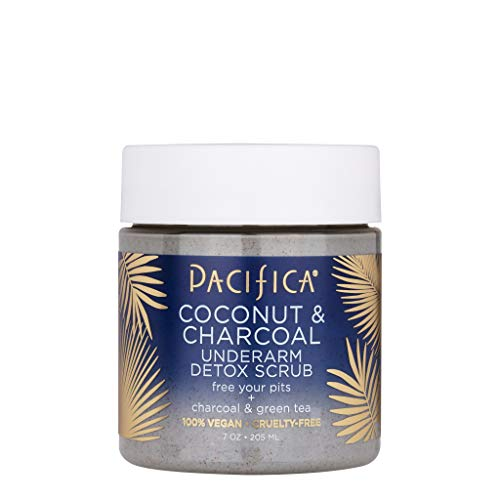 Pacifica Beauty Coconut and Charcoal Underarm Detox Scrub, Vegan & Cruelty Free, 7 Oz