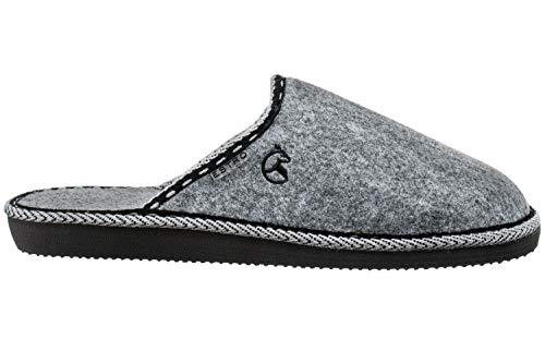ESTRO Zapatillas De Casa Hombre Zapatillas Fieltro Pantuflas Casa Hombre F14 (42 EU, Gris)