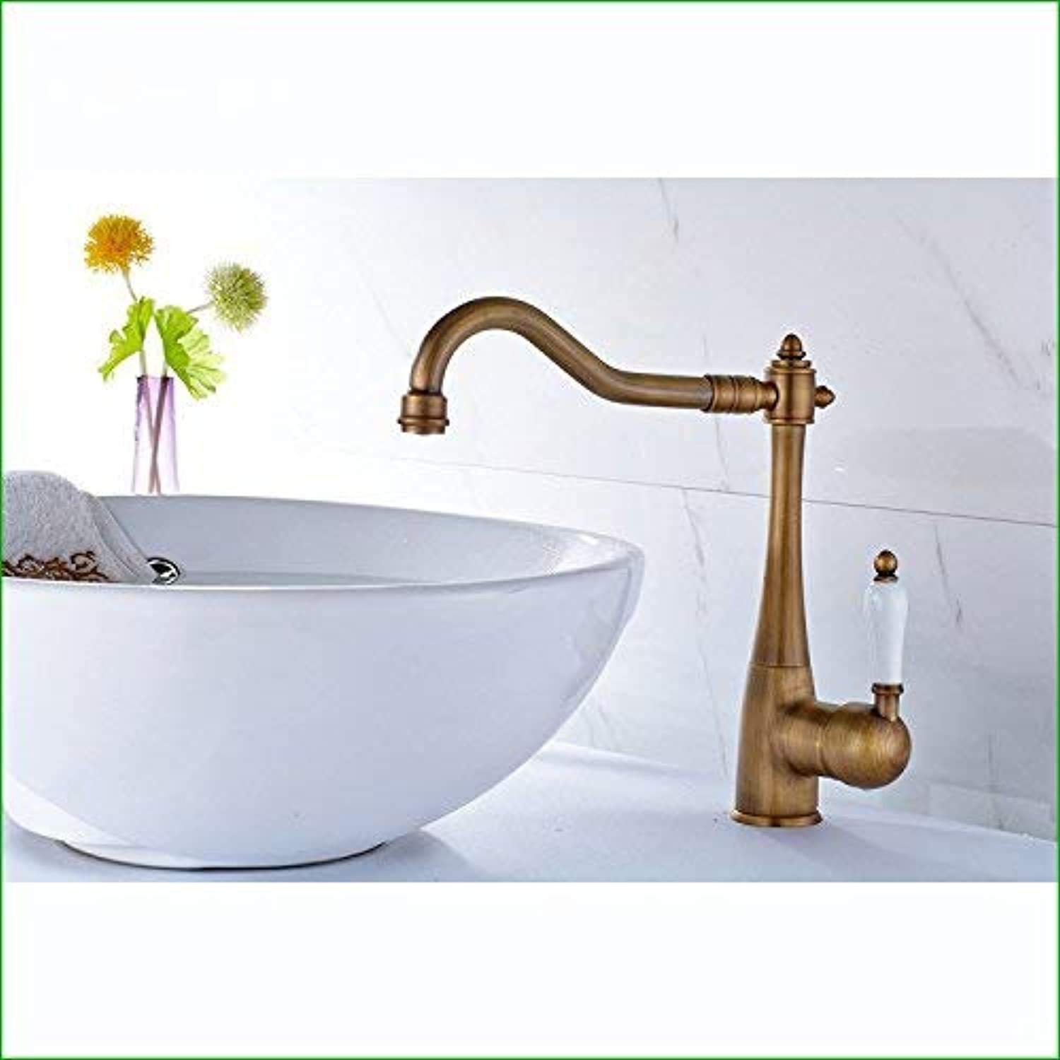 Oudan All copper single hole single hot and cold water tap