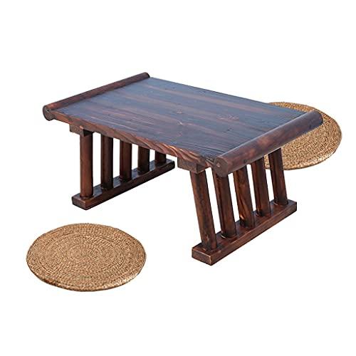 Sala De Estar Pequeña Mesa De Centro Cama Tatami para El Hogar Mesa Pequeña Marrón Disponible En Varios Tamaños con Dos Cojines Mesas (Color : Brown, Size : 50 * 28 * 40cm)