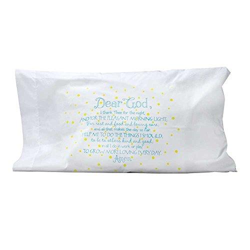 Dicksons Dear dios noche oración mezcla de algodón tamaño estándar funda de almohada que brillan