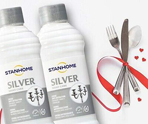 Stanhome Silver 2 pezzi Crema antiossidante per Argento, Cromo e Silver Plate