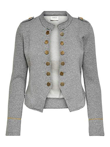 Only ONLANETTA L/S Blazer SWT, Color Gris, XL para Mujer