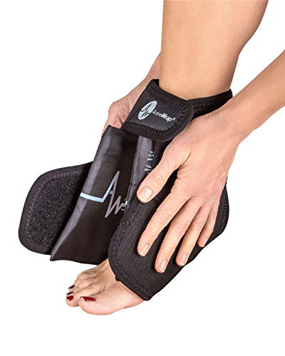 ActiveWrap Foot & Ankle Ice Pack Wrap with Reusable Hot Cold Packs for Plantar Fasciitis Pain Achilles Injuries - Small/Medium