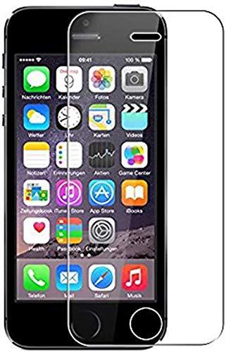 im77r Pack De 2 Unidades de Protector de Pantalla Premium 2.5D Cristal Templado Transparente 9H Compatible para Apple iPhone 5/5S Anti Arañazos Anti Golpes Facil Instalacion Vidrio Templado