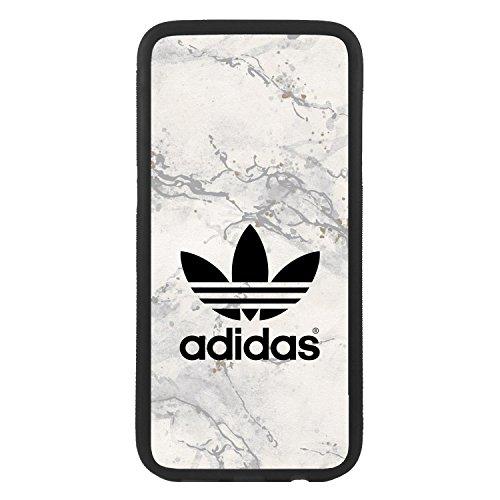 Funda Carcasa de móvil para Samsung Galaxy S7 Edge Logotipo Adidas Logo marmol TPU Borde Negro