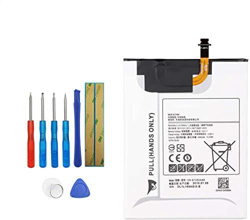 Vvsialeek EB-BT280ABE EB-BT280ABA - Batería de repuesto compatible con Samsung Galaxy Tab A 7.0 2016 4G LTE, SM-T280, SM-T285, SM-T285M, SM-T285YD, GH43-04588A con kit de herramientas