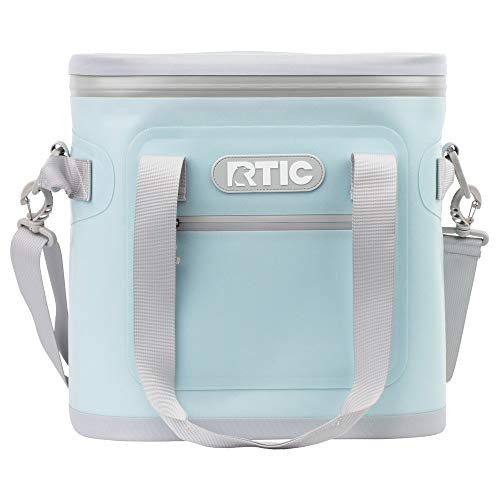 RTIC Soft Cooler 20, Sky Blue, Insulated Bag, Leak Proof Zipper, Keeps Ice Cold for Days