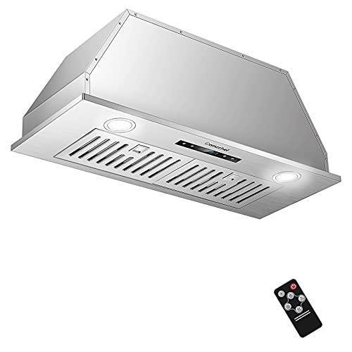 AMZCHEF Range Hood Insert 30 Inch Built-in Range Hoods 900CFM Stainless Steel Vent Hood for Kitchen 3-Speed Touch&Remote Control LED Lights Dishwasher-Safe Filters