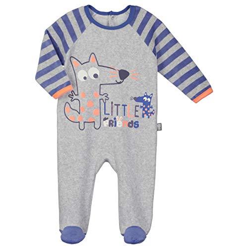 Petit Béguin - Pyjama bébé velours Little Friends - Taille - 9 mois