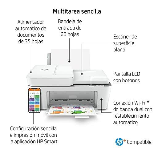 Impresora Multifunción HP DeskJet 4120e - Con HP+ 6 meses de impresión Instant Ink
