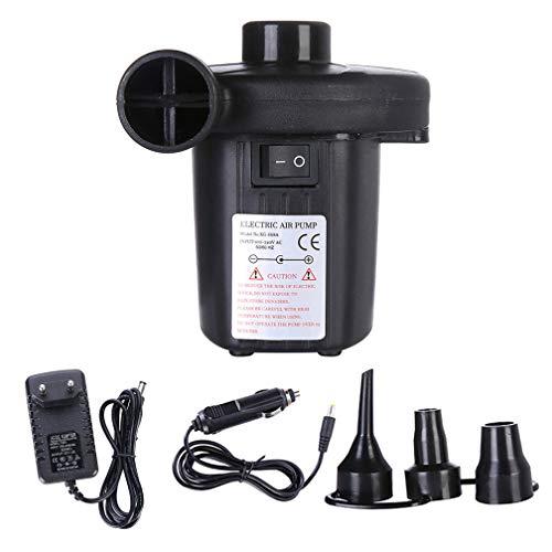 Starall Bomba de Aire eléctrica automática con 3 chorros para colchón de Aire Inflable