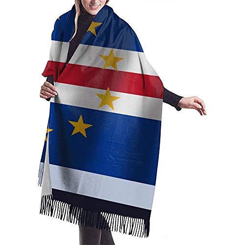Bklzzjc Kap Verde realistische wehende Flagge National Schal wickeln Winter Schal Cape Oversized Decke Schal