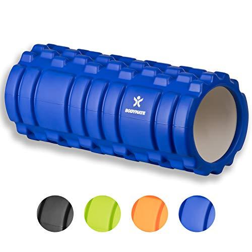 BODYMATE Faszienrolle mit GRATIS E-Book - Classic BLAU - Foam-Roller zur Triggerpunkt-Selbst-Massage - Massage-Rolle für myofasziales Training - Faszien-Rolle für Verklebungen und Muskelbeschwerden