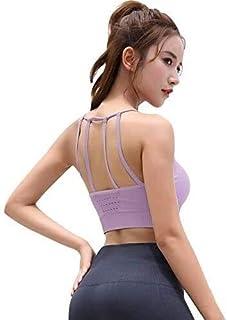OneChange Ms. Seamless Bra Fitness Yoga Energy Breathable high Elastic Underwear Running Shockproof Sports Bra Halter Fitn...