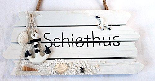 Türschild Badezimmer SCHIETHUS Holz 28 x 13 cm Serie STRAND