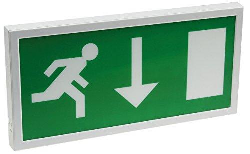LED Fluchtwegleuchte Sicherheitsbeleuchtung Wandmontage 27mm Flach I Erkennung bis 25m I nach EN-61547 I Mit Piktogrammen