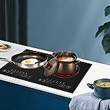 Placa de inducción portátil de 2000 W, placa de inducción con 2 zonas de cocción, con pantalla digital LED y función de temporizador, con control táctil y cerradura de seguridad, para cocina de casa