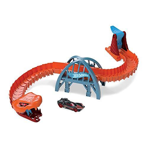 Hot Wheels GJK88 - City Viper-Brücken-Angriff Spielset zum Herumschieben und Geschichtenerzählen mit 1 Hot Wheels Fahrzeug, Spielzeug ab 4 Jahren, Mehrfarbig