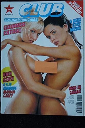 CLUB Ed. Fr. 22 1997 KYLIE MINOGUE MARIAH CAREY SANDRA VIVIANE ALICE Gym Tonique Chauds Lapins